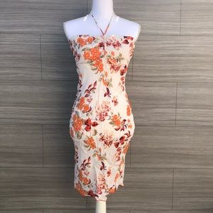 tropical floral halter  Dress Size Medium